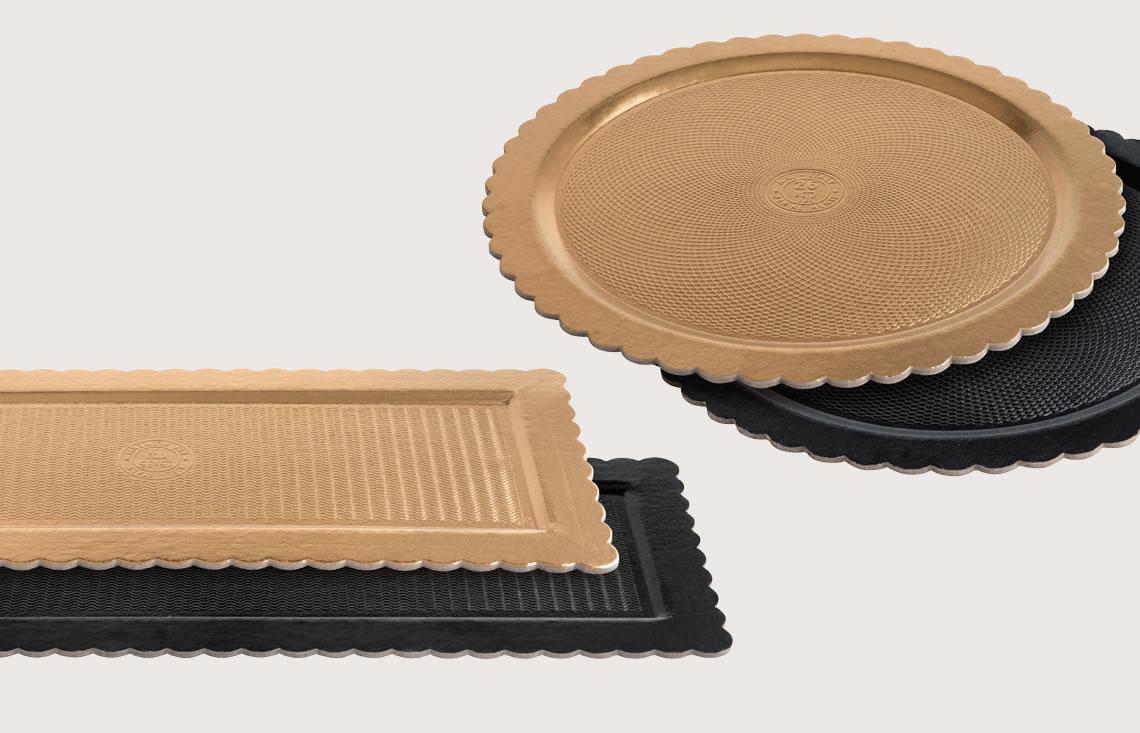 Piatto Ala Black&Gold | Rotondo - Rettangolare - Artigian Carta