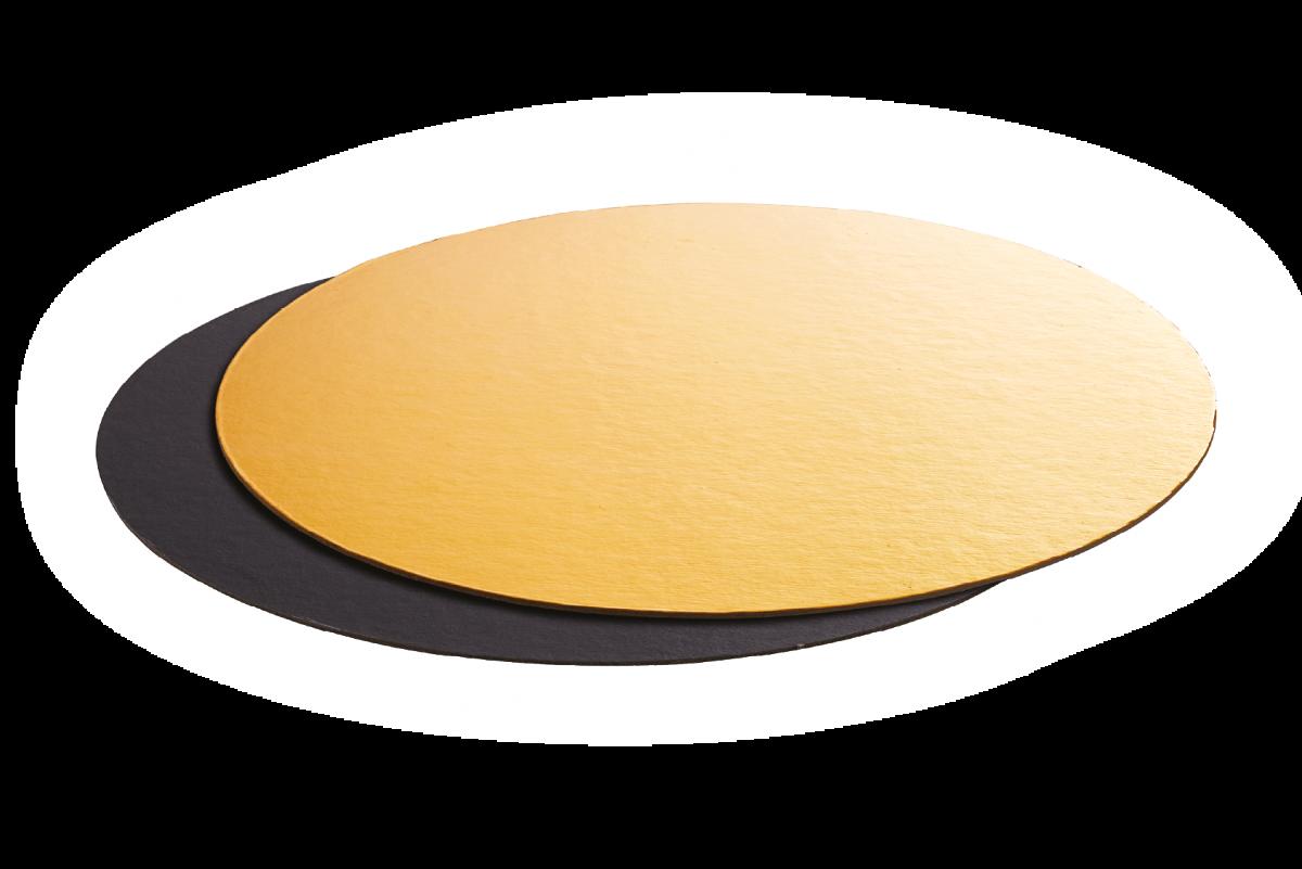 Black&Gold Round Cake Boards - Artigian Carta