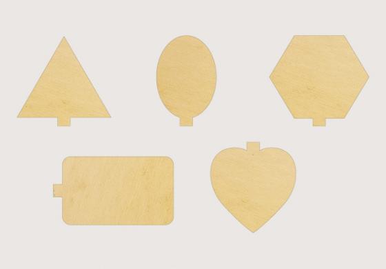 Monoporzioni Black & Gold piane con linguetta