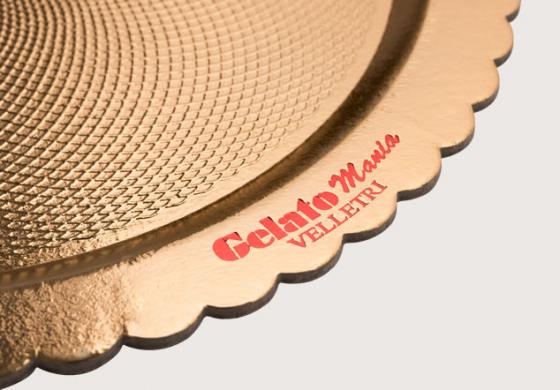 Piatto Ala Black&Gold | Rotondo - Rettangolare